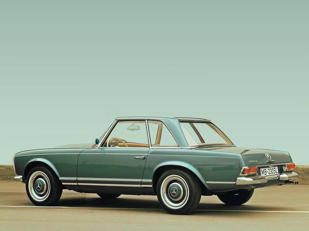 Mercedes-Benz 230 SL (W 113) 1963-1967 vue AR - photo Mercedes-Benz