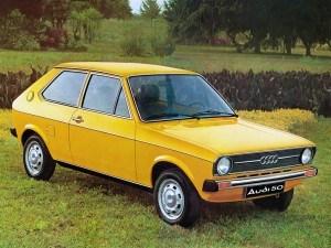 Audi 50 1974-1978 vue AV - Volkswagen Polo type 86
