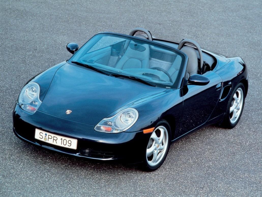 Porsche Boxster 1996-2002 vue avant décapotée