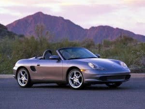 Porsche Boxster 2003-2004 version US vue avant