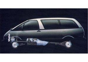 Previa 1990-1999 architecture mécanique - photo Toyota