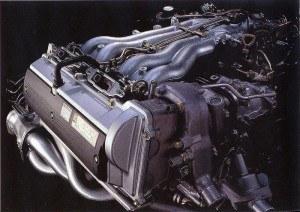 Previa 1990-1999 disposition du moteur - photo Toyota
