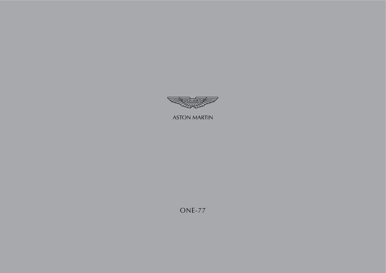 Aston Martin One-77 brochure catalogue prospekt
