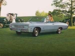 Chevrolet Impala Convertible 1967-1968 vue AV - photo Chevrolet