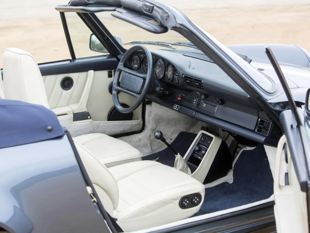 Porsche 911 s rie g cabriolet histoire et fiche for Interieur 911