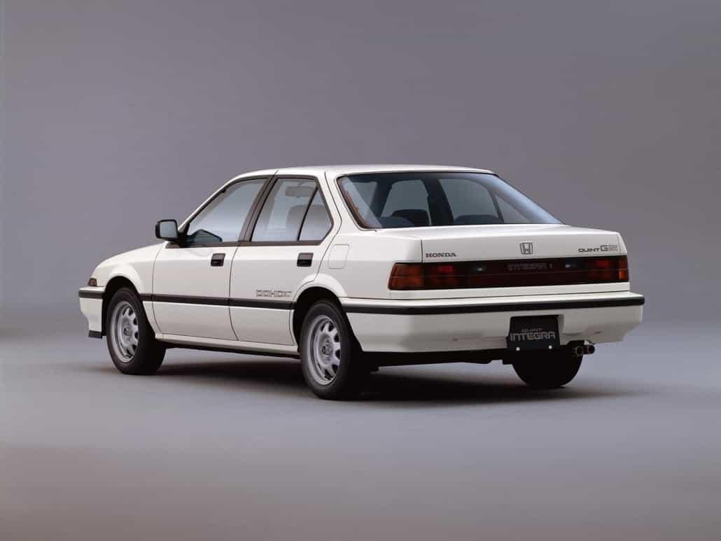 Honda Quint Integra sedan 4p 1986-1987 vue AR - photo Honda