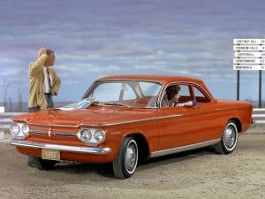 Chevrolet Corvair Club Coupe vue AV MY 1962 - photo Chevrolet