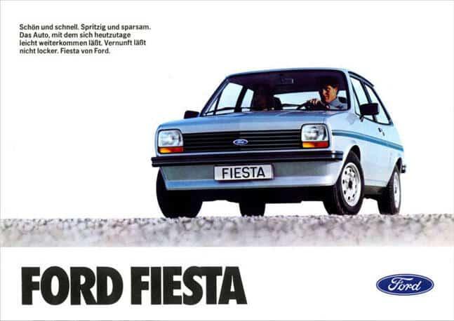 brochure Ford Fiesta MY 1981