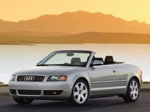 Audi A4 B6 S4 cabriolet 2003-2006 US vue AV décapotée - photo Audi