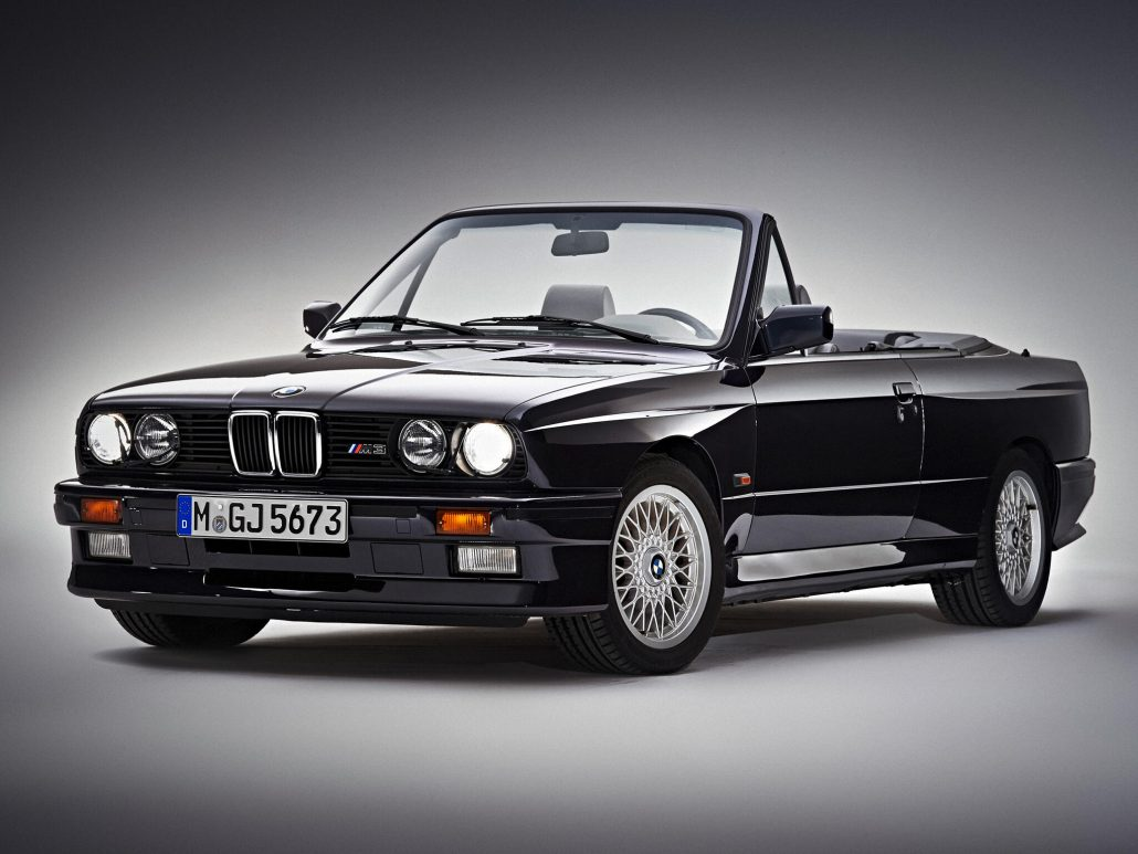 BMW M3 E30 cabriolet 1988-1991 vue AV - photo BMW