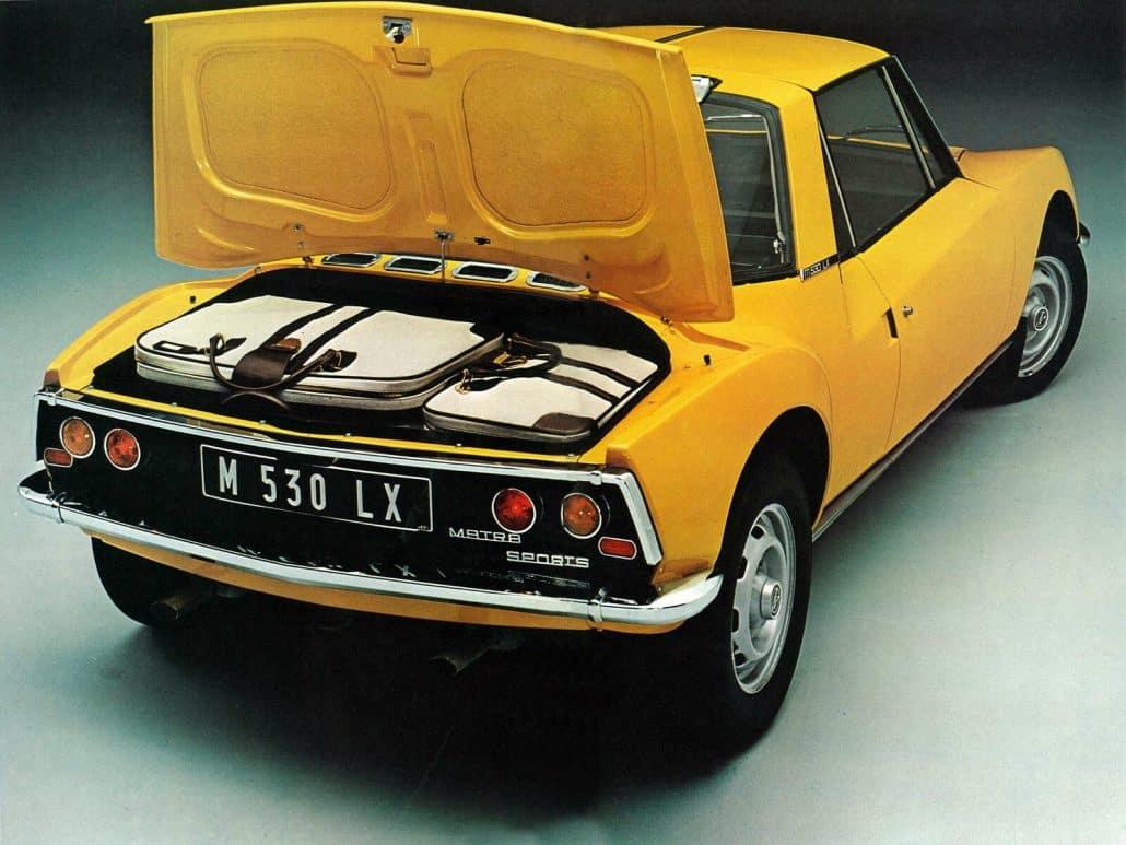 Matra 530 LX 1970-1973 vue AR - photo Matra