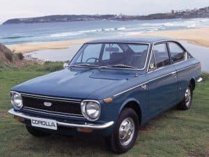Historique Toyota Corolla Sprinter 1968-1969 fiche technique
