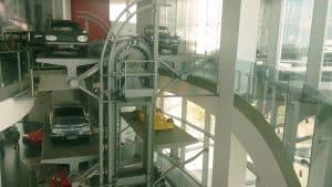 """Musée Audi d'Ingolstadt : la """"tour"""" NSU"""