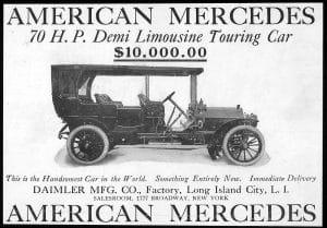 Publicité pour l'American Mercedes