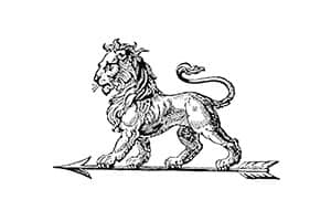 Premier logo du constructeur Peugeot 1858