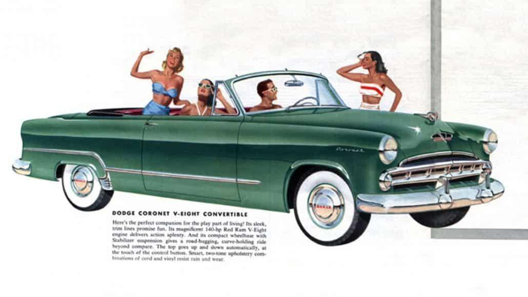 Dodge Coronet convertible 1953 - illustration Chrysler