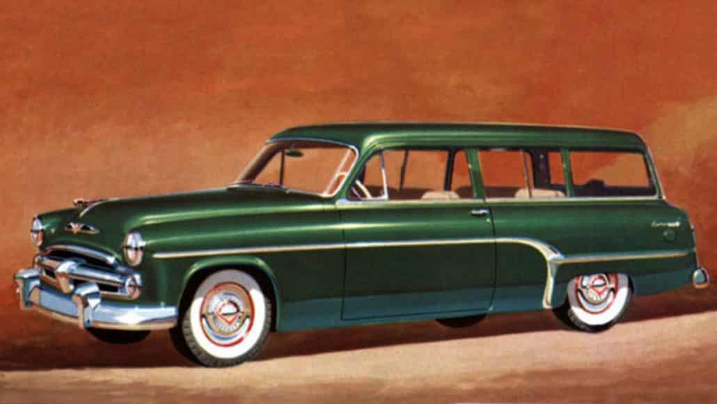 Dodge Coronet Suburban 1954 - illustration Chrysler