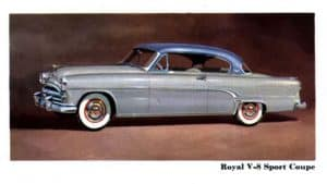 Dodge Royal Sport Coupe Hard-Top 1954 - illustration Chrysler