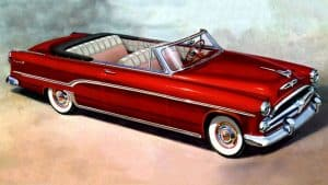 Dodge Royal convertible 1954 - illustration Chrysler