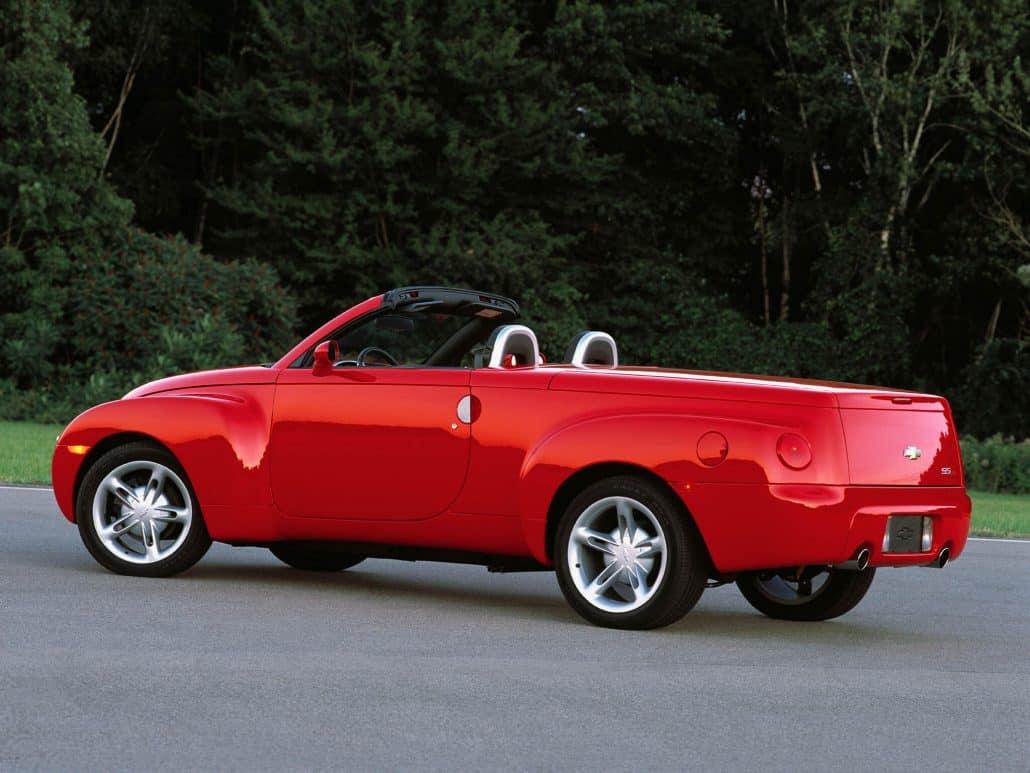 Chevrolet SSR 2003-2006 vue AR découverte - photo GM