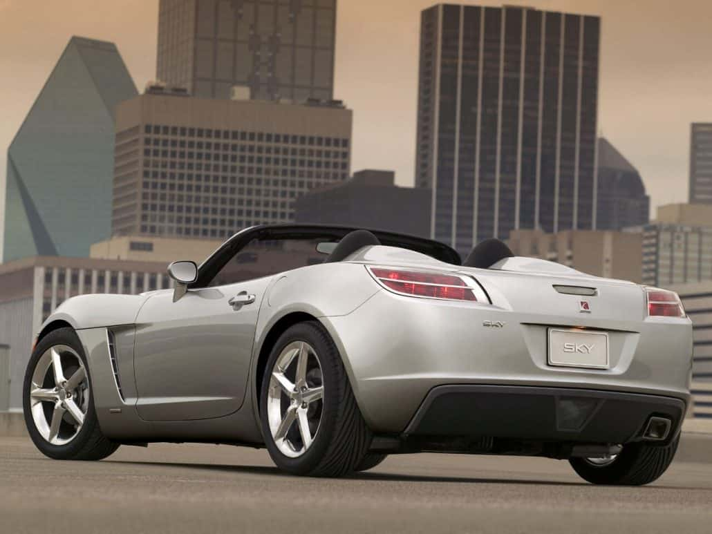 Saturn Sky 2006-2009 vue AR - photo GM