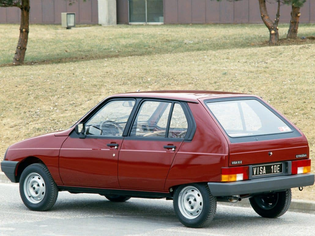 Citroën Visa 10E 1984-1988 vue AR - photo Citroën