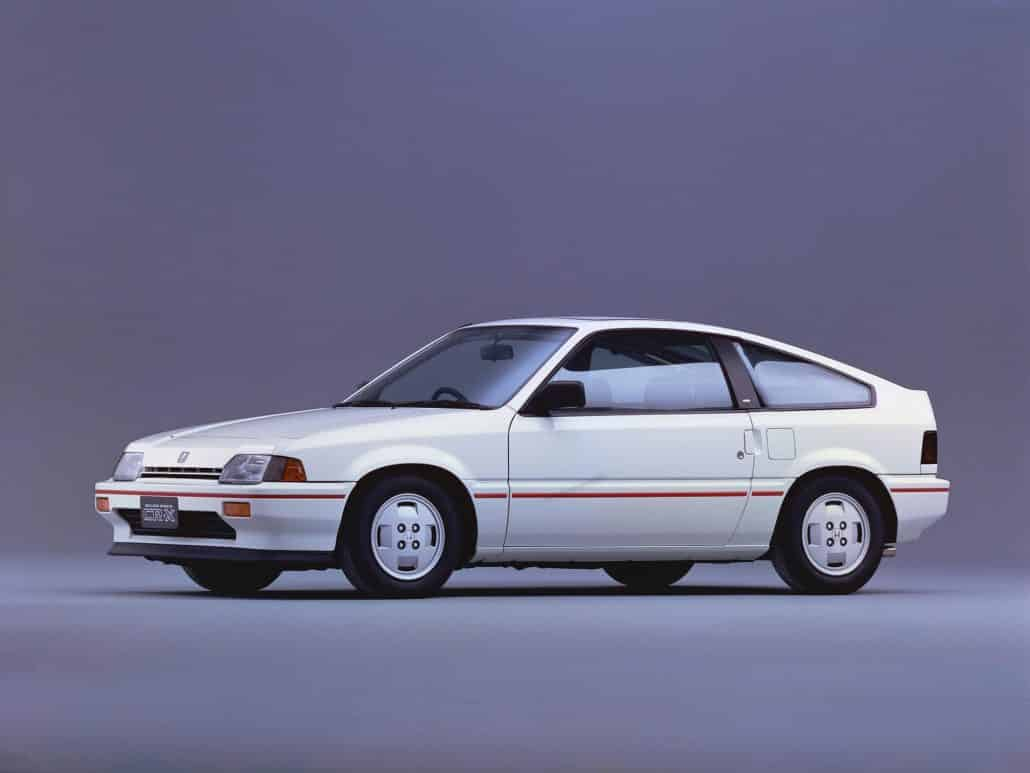 Honda Ballade Sports CR-X 1985-1987 vue AV - photo Honda