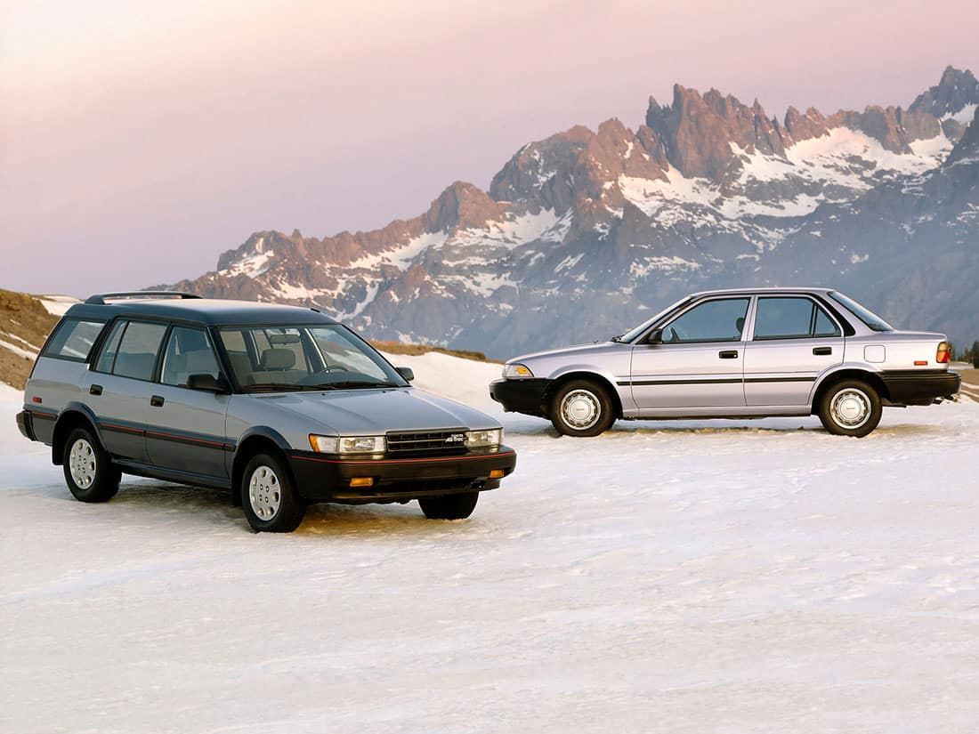 Toyota Corolla E90 4WD Sedan & Wagon 1989 US
