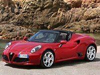 Alfa Romeo 4C roadster depuis 2015