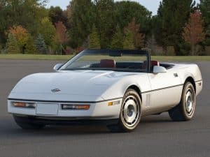Chevrolet Corvette Convertible 1986-1987 vue AV - photo Chevrolet (Alan Vanderkaay)