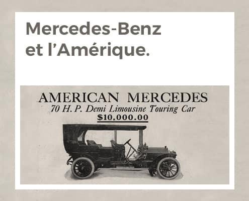 Mercedes-Benz et l'Amérique