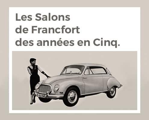 Les Salons de Francfort des années en Cinq