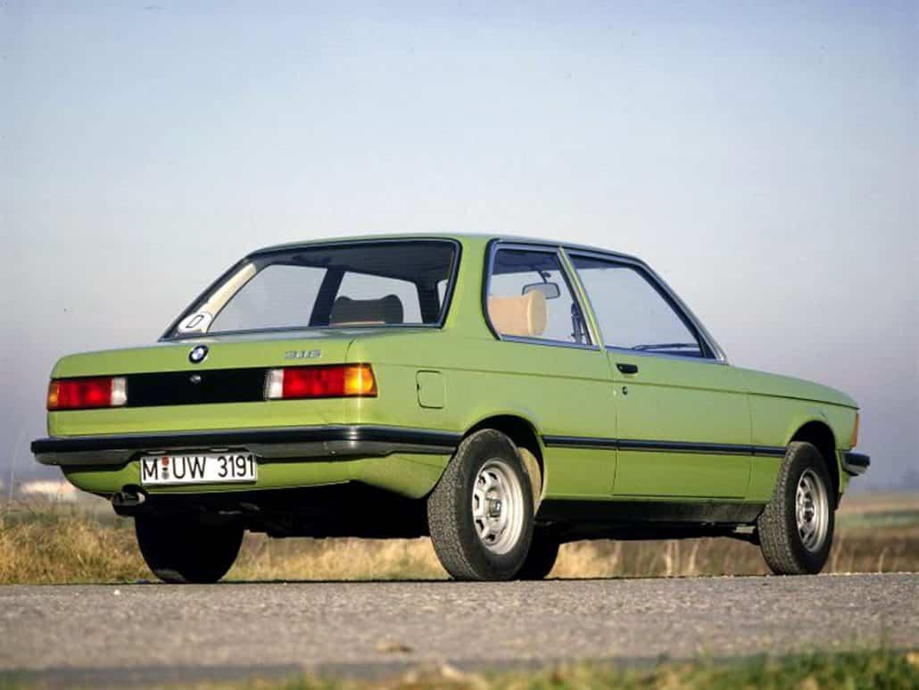 BMW Série 3 E21 316 vue AR 1979-1983 - photo BMW
