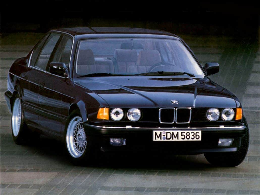 BMW 7-series E32 6 cylindres 735i 1986-1992 vue AV - photo BMW
