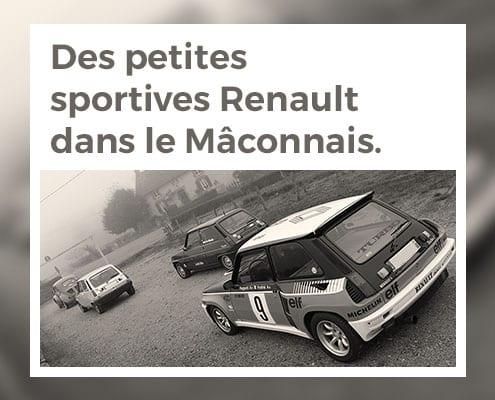 Des petites sportives Renault dans le Mâconnais