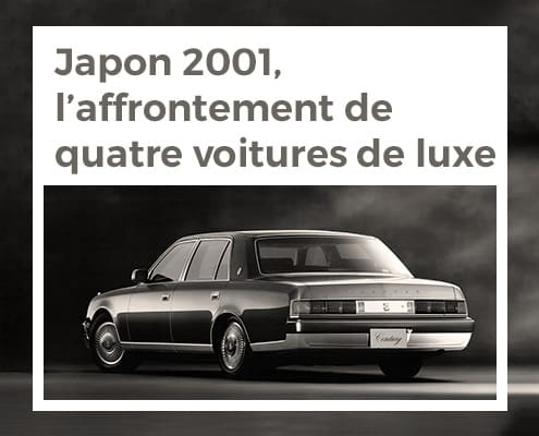 Japon 2001, l'affrontement de quatre voitures de luxe
