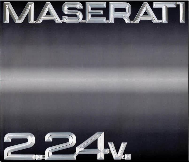 Brochure Maserati 2.24v 1989