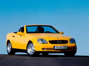 La Mercedes SLK R170 au moment de son lancement en avril 1996 - photo Mercedes-Benz