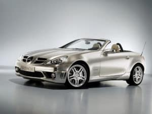 Un prototype de SLK 320 CDI présenté au salon de Francfort 2005 - photo Mercedes-Benz