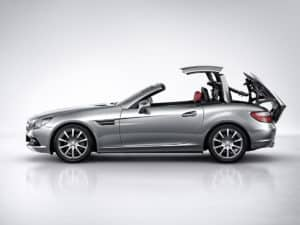 SLK R172, profil avec le mécanisme du toit rétractable - photo Mercedes-Benz