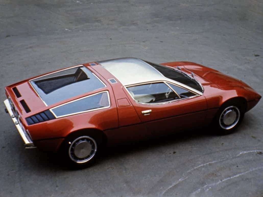Maserati Bora 1971-1973 vue AR - photo Maserati