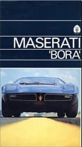 Maserati Bora brochure 1972