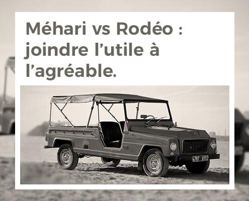 Citroën Méhari contre Renault Rodéo : joindre l'utile à l'agréable