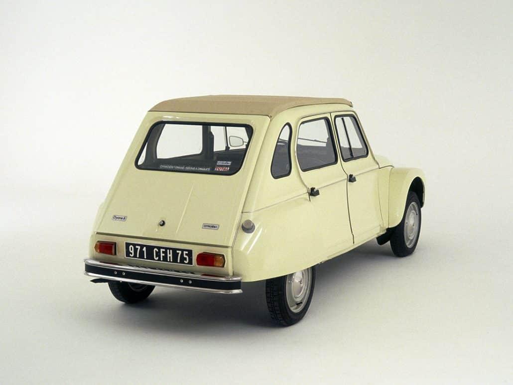 Citroën Dyane 1977-1982 vue AR - photo Citroën