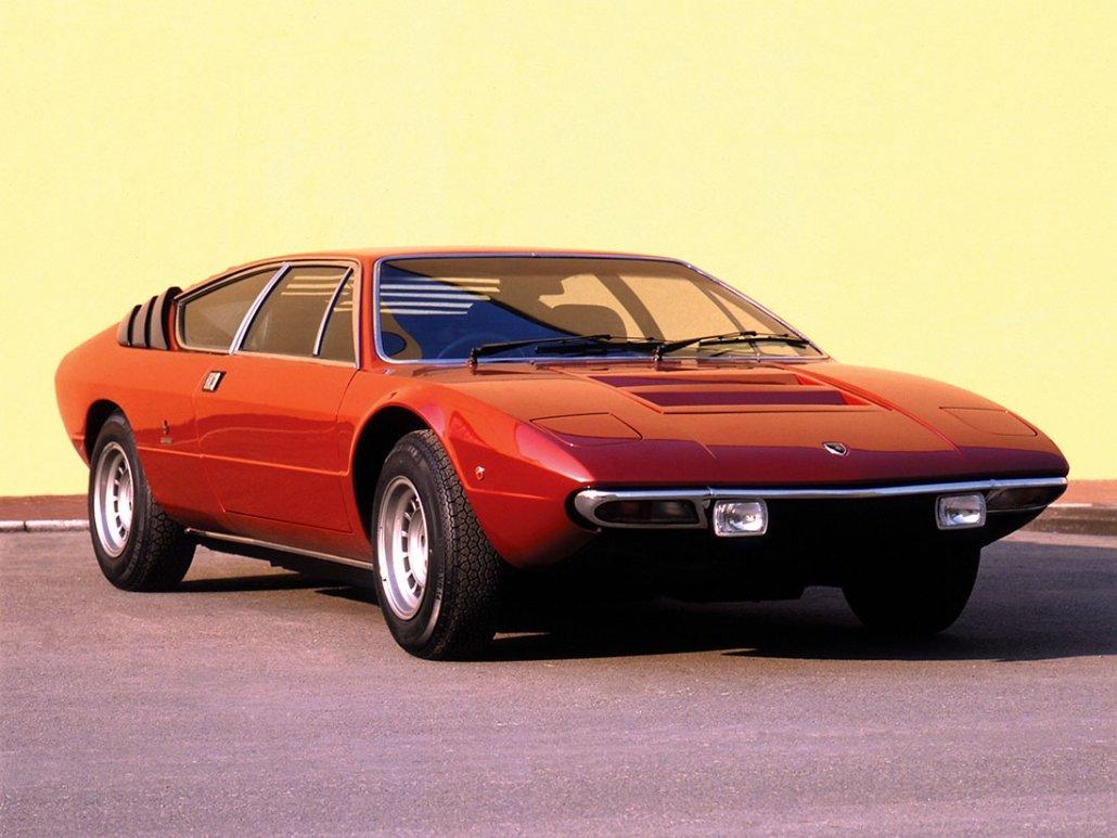 Lamborghini Urraco P250 1972-1979 vue AV - photo : auteur inconnu DR