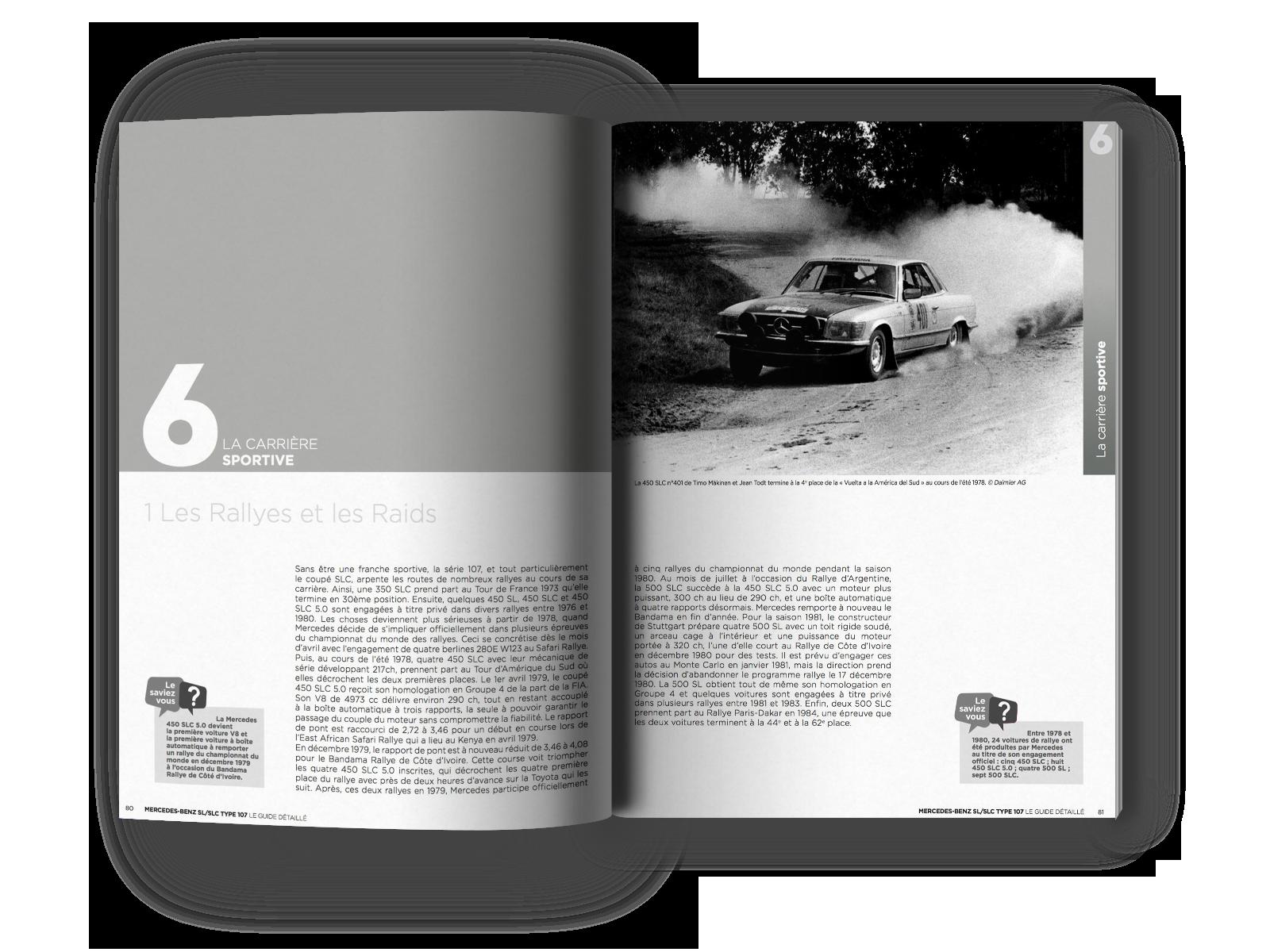 Extrait du Guide de la Mercedes SL / SLC type 107 chapitre 6