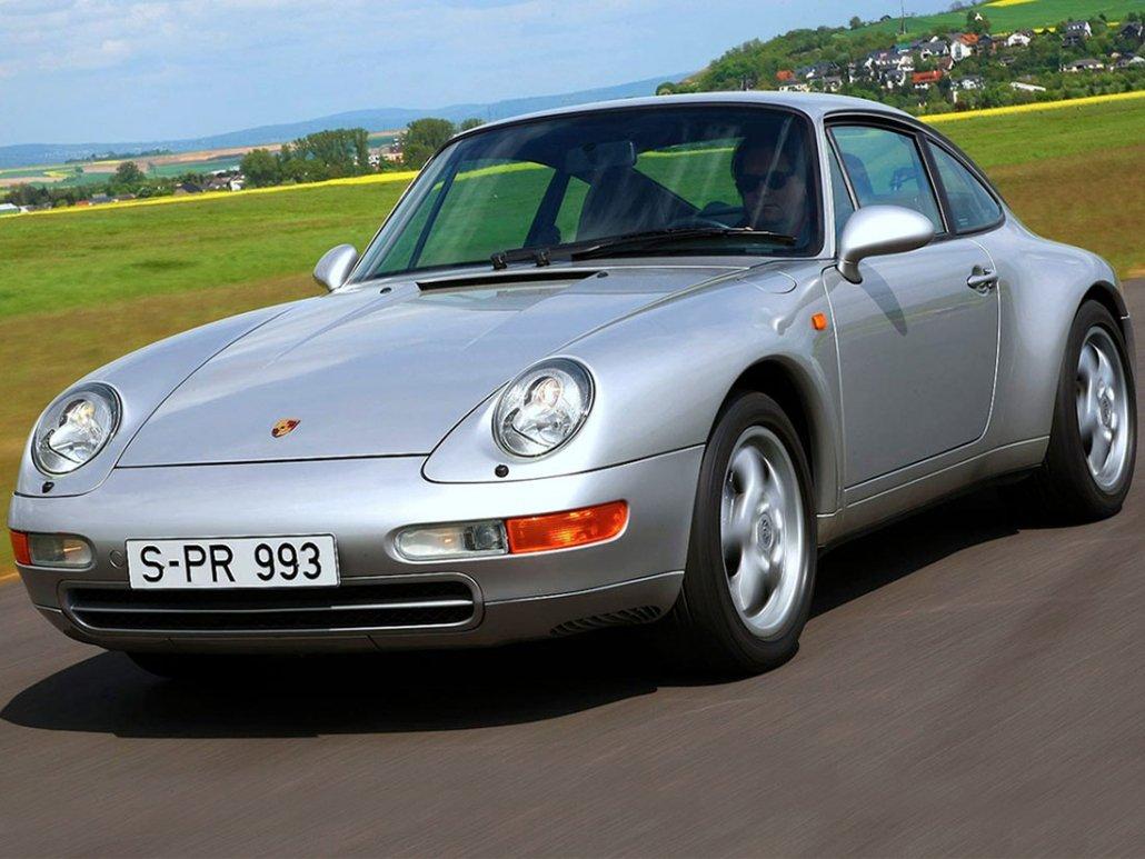 Porsche 911 Carrera type 993 vue AV 1993-1997 photo Porsche AG