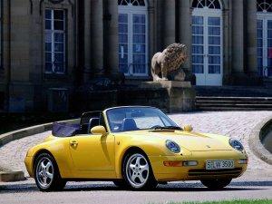 Porsche 911 Carrera cabriolet type 993 vue AV 1994-1997 photo Porsche AG