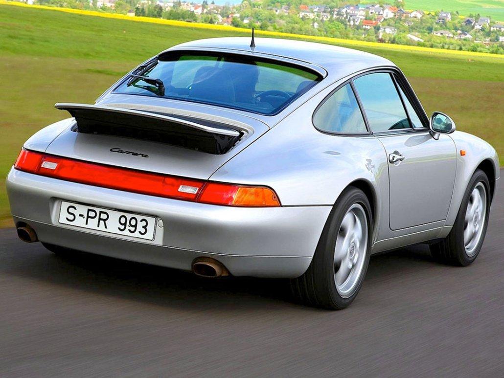 Porsche 911 Carrera type 993 vue AR 1993-1997 photo Porsche AG