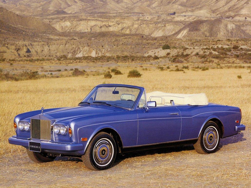 Rolls Royce Corniche II 1985-1989 US vue AV - photo Rolls Royce